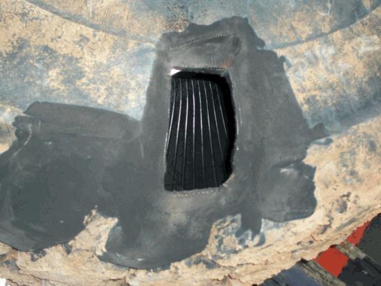 Reparación de 29,5 R 25 saneamiento exterior 19 cables rotos